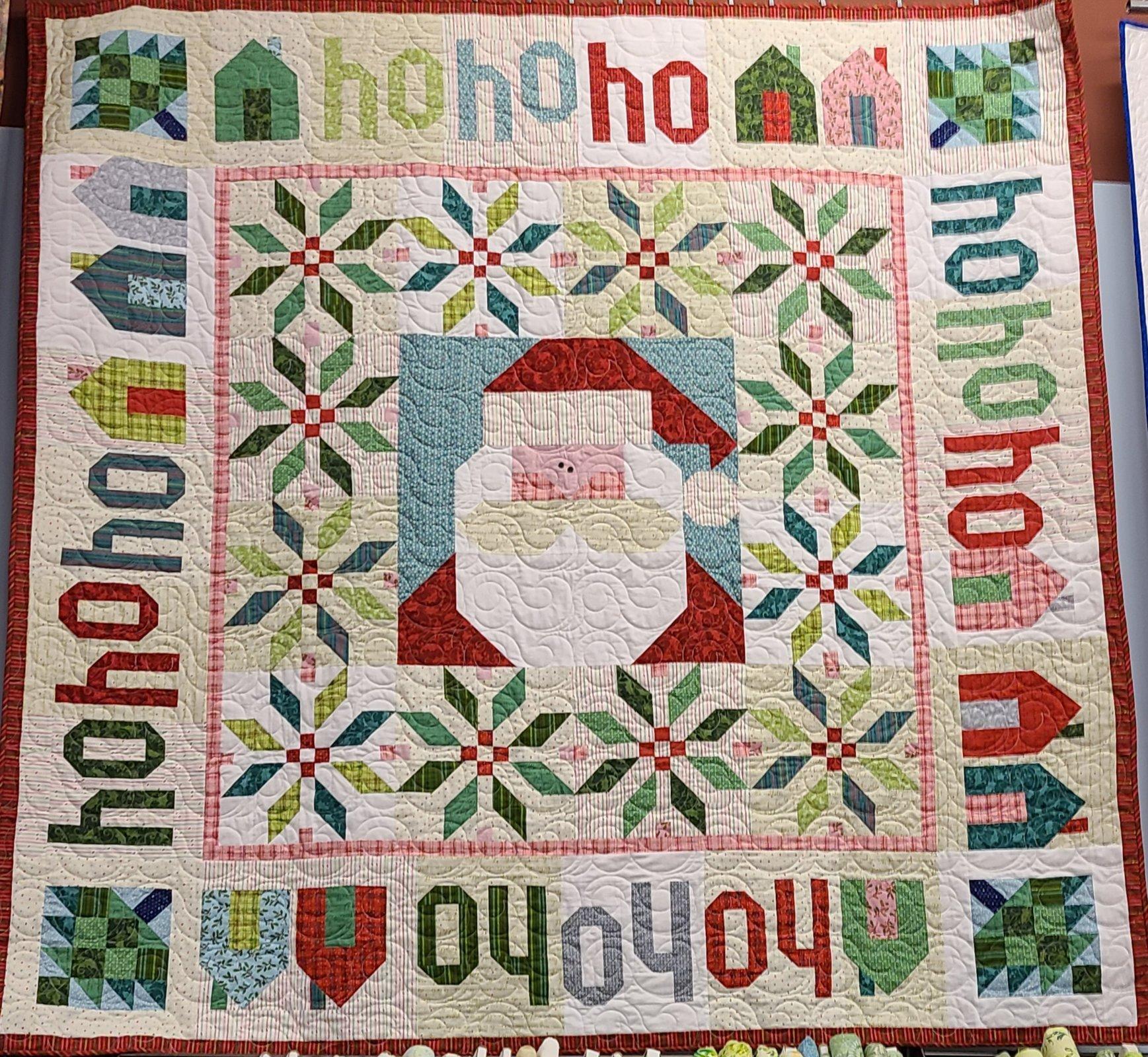Santa is Coming Fabric Kit - Nancy Halvorson - Better Not Pout