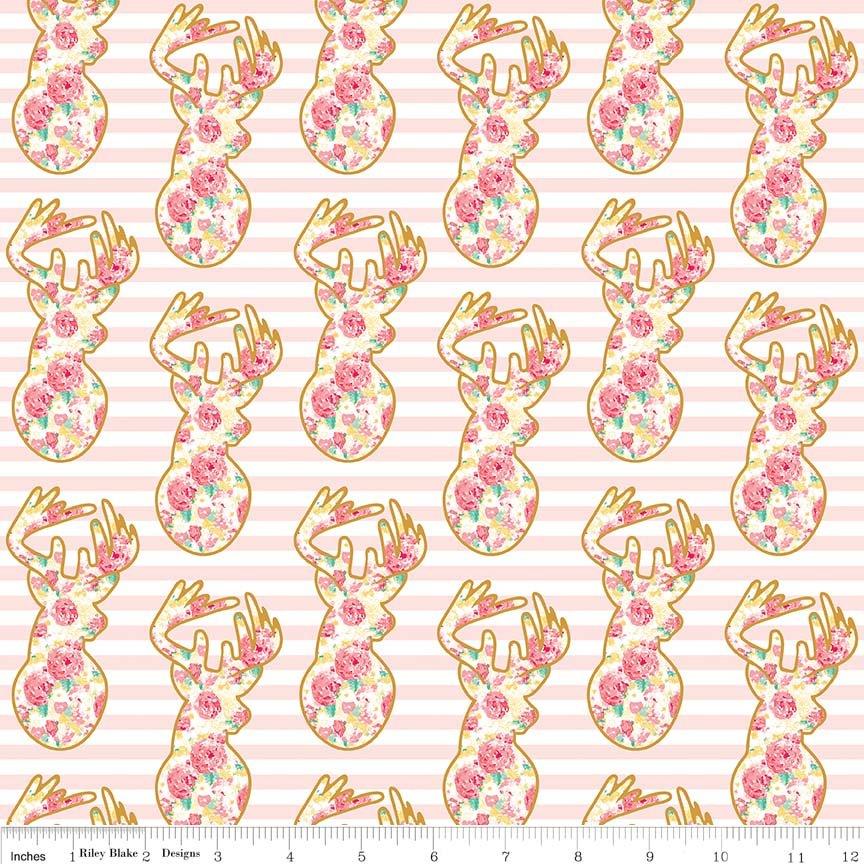 Just Sayin Deer Pink Sparkle - Riley Blake