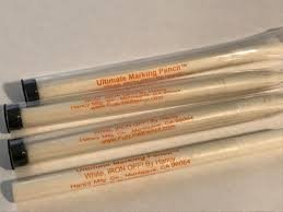 Ultimate Marking Pencil   White  Iron Off