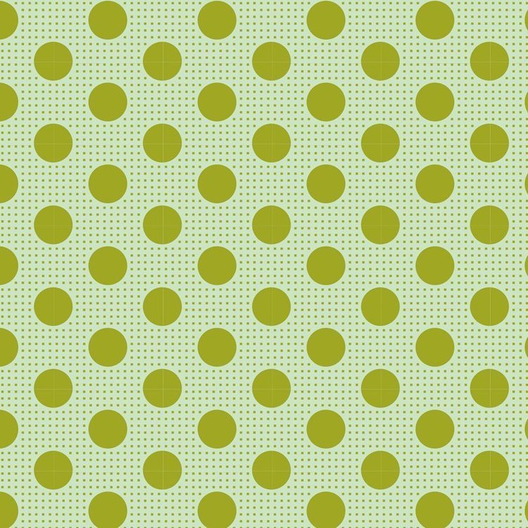 Tilda Basics: Medium Dots - Green