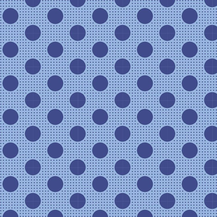 Tilda Basics: Medium Dots - Denim Blue