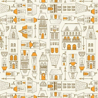 09176-12 City Scene - Peach -  City Hoppers by Michael Miller