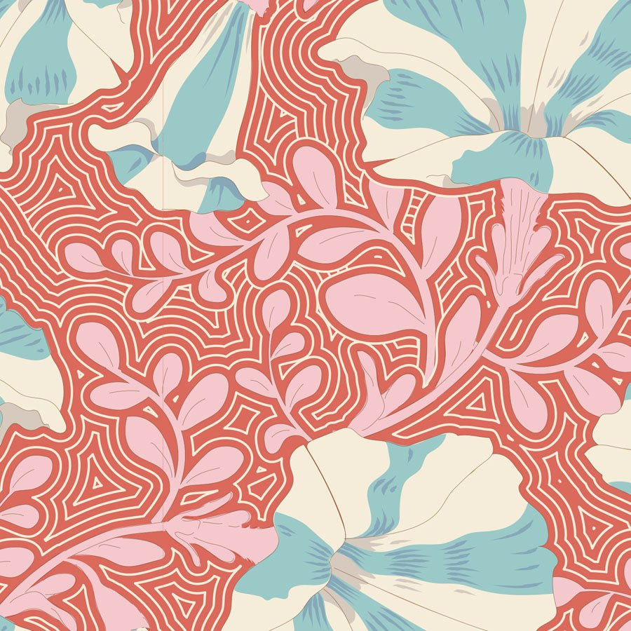 100309 Gardenlife - Striped Petunia - Coral