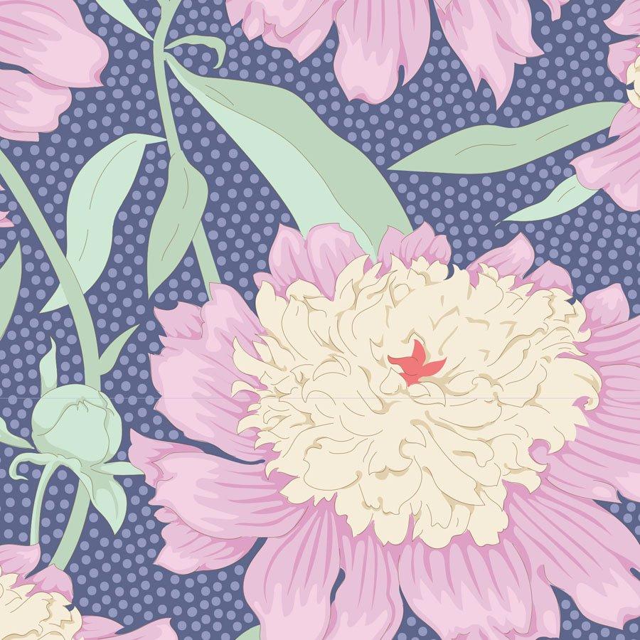 100320 Gardenlife - Bowl Peony - Blue