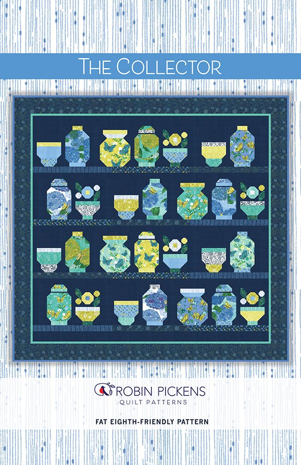 Fat Eighths Bundle (20 pc) - Cottage Bleu by Robin Pickens for MODA