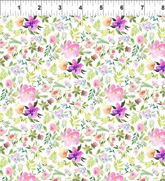 11GSH2 Watercolor Beauty - Sprig - Pink