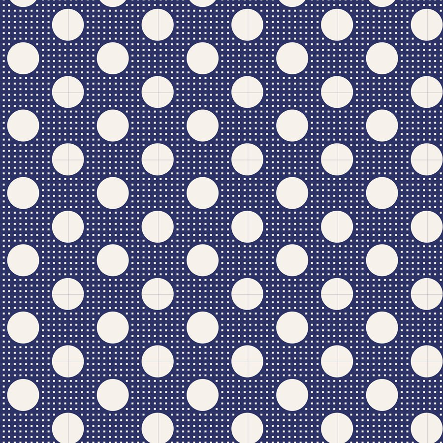 Tilda Basics: Medium Dots - Night Blue