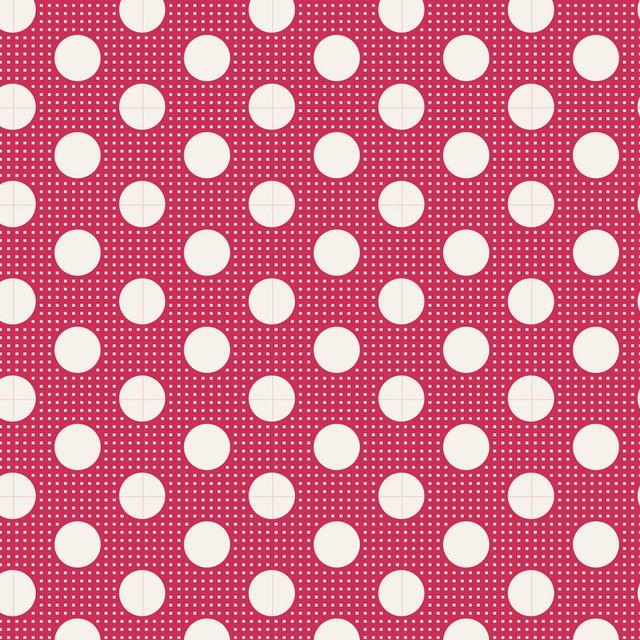 Tilda Basics: Medium Dots - Red