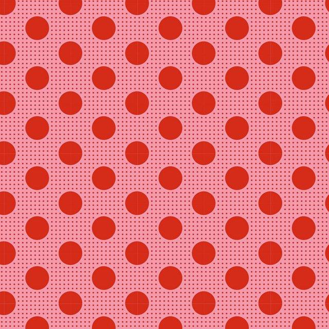 Tilda Basics: Medium Dots - Salmon