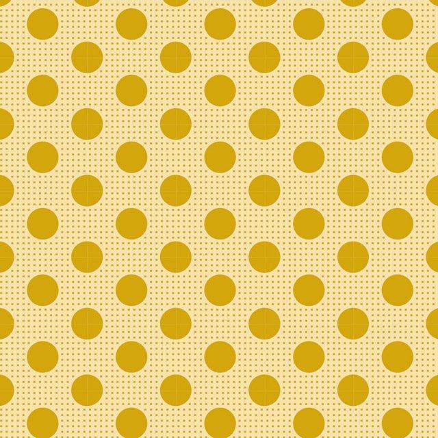 Tilda Basics: Medium Dots - Flaxen Yellow