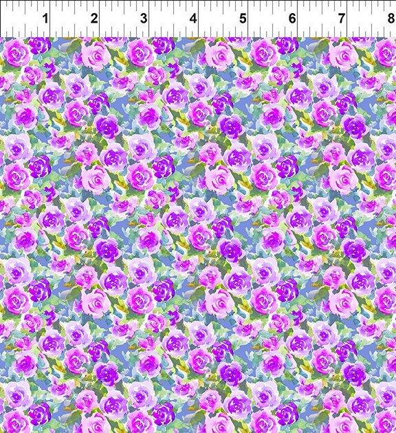 13GSH1 Watercolor Beauty - Rose - Purple