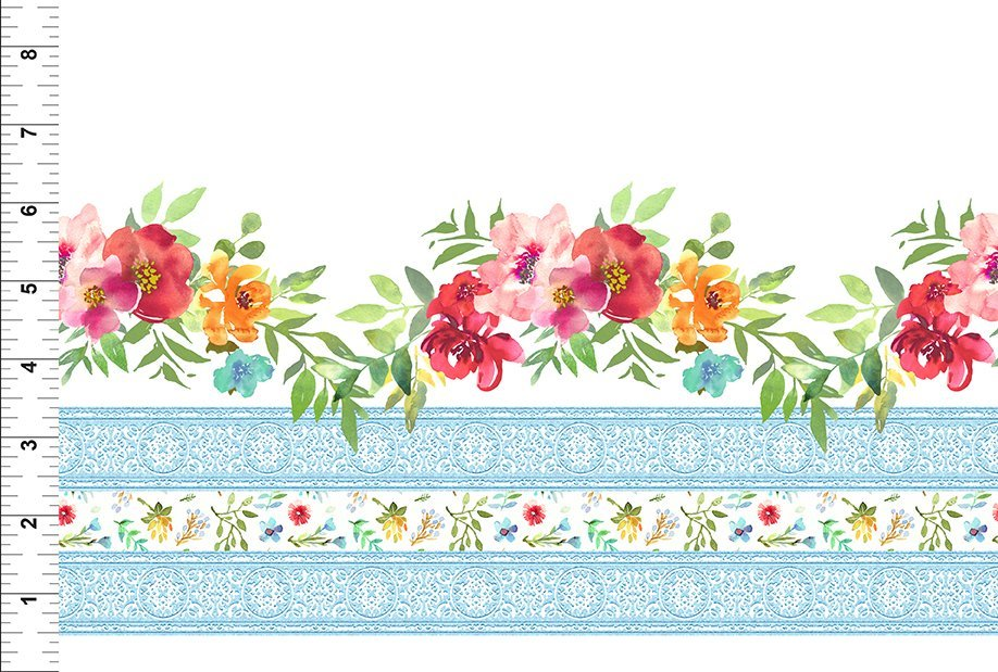 18GSH1 Watercolor Beauty - Border - Multi