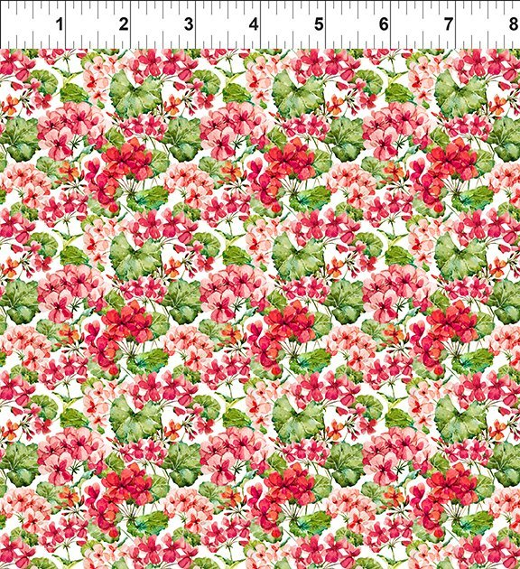 1GSH1 Watercolor Beauty - Geranium - Red
