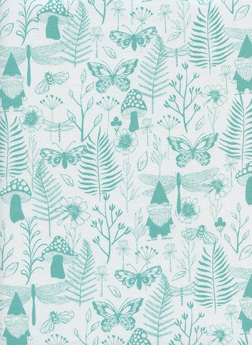 32070-01 Front Yard by Sarah Watts for Cotton and Steel garden-teal