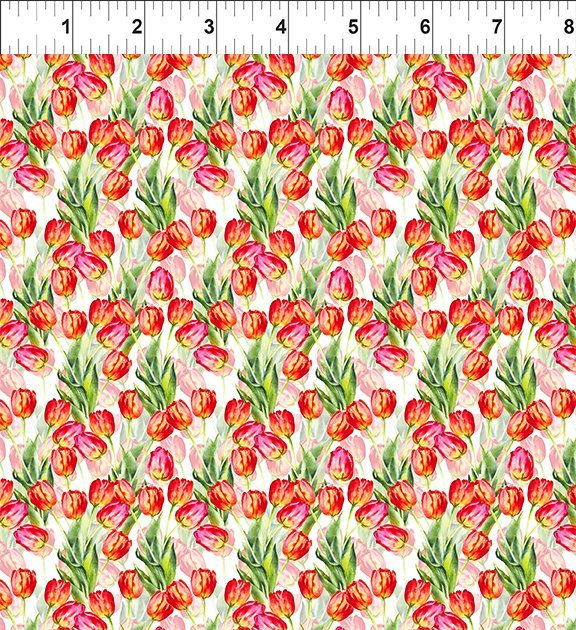 2GSH1 Watercolor Beauty - Tulip - Red