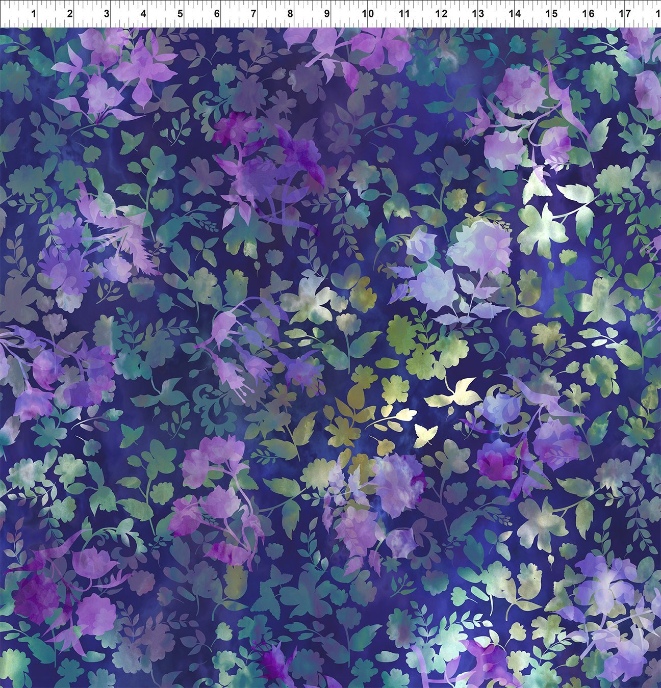 2HVN-3 Haven - Shadows - Purple by Jason Yenter for In The Beginning Fabrics