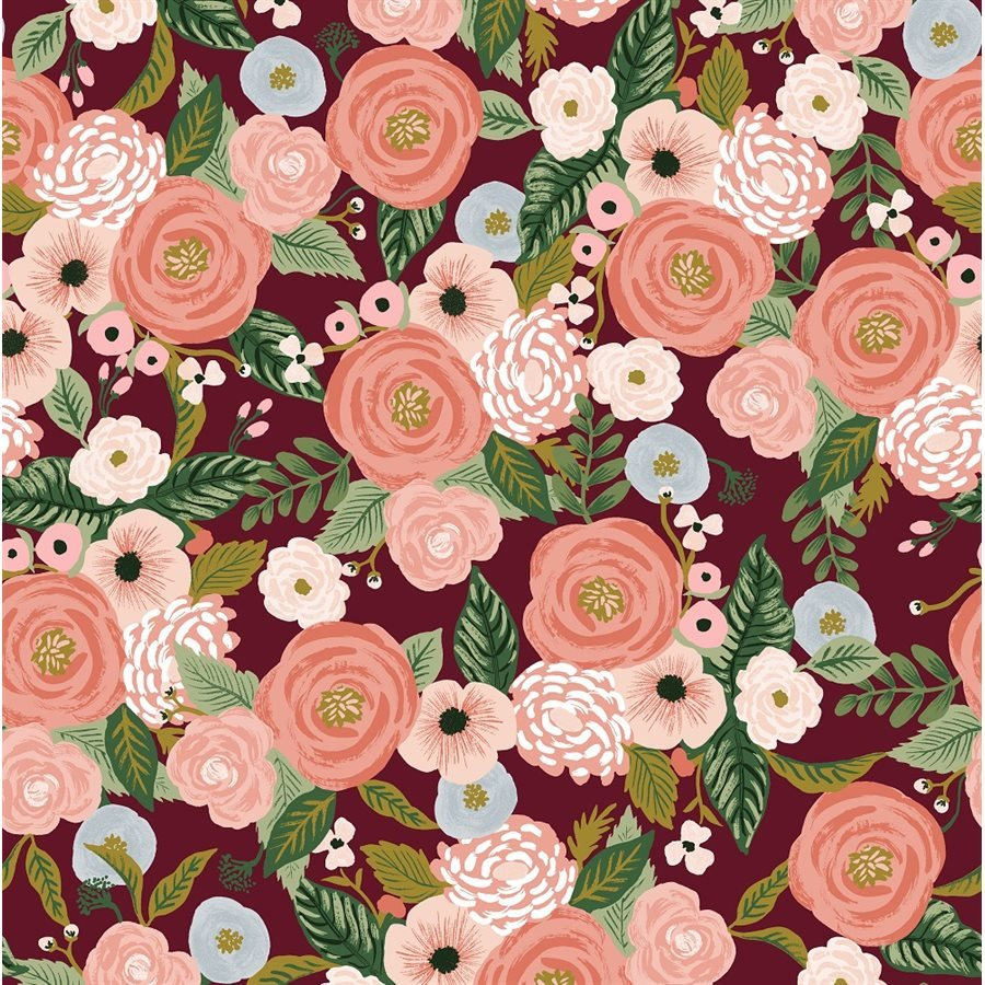 Burgundy Canvas - Garden Party by Rifle Paper Co. for Cotton + Steel