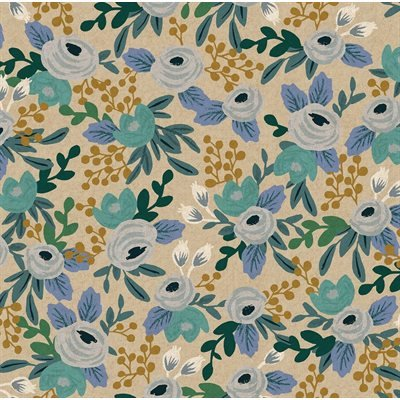 Blue Unbleached Canvas - Garden Party by Rifle Paper Co. for Cotton + Steel