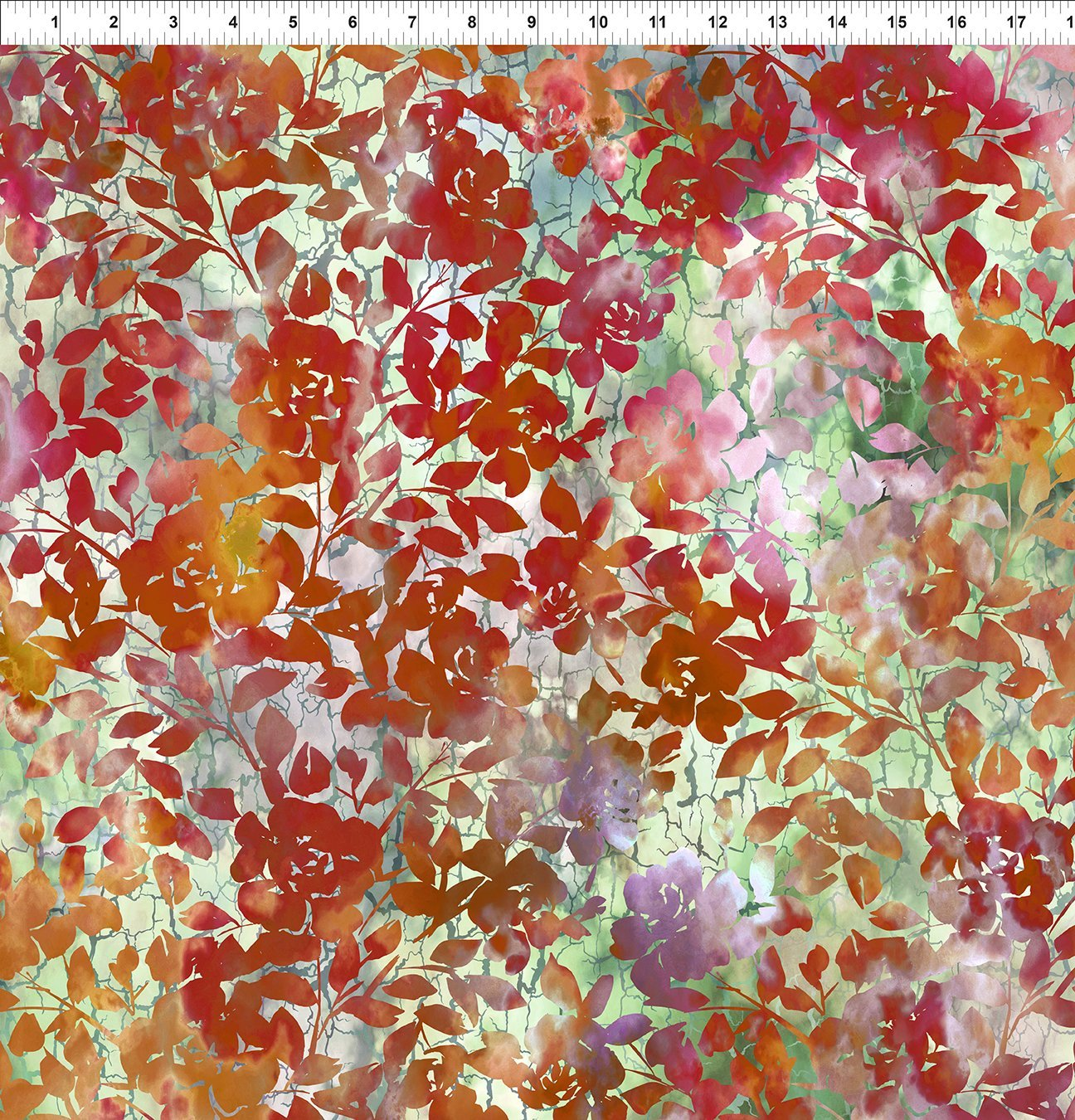 3HVN-1 Haven - Roses - Red by Jason Yenter for In The Beginning Fabric
