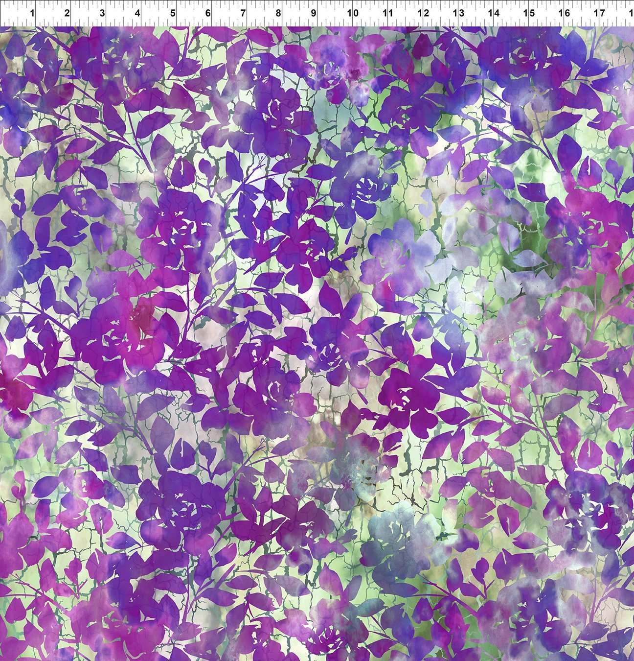 3HVN-3 Haven - Roses - Purple by Jason Yenter for In The Beginning Fabric