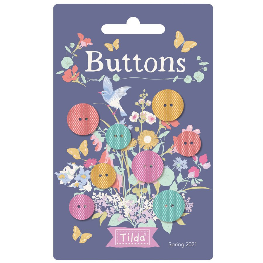 400040 Gardenlife Buttons - 4pc .6 in and 4 pc .47 in