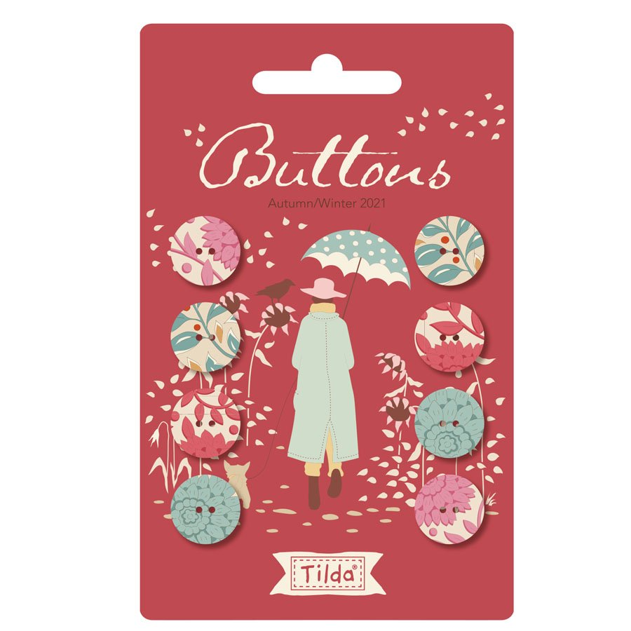 400042 - Windy Days - Buttons (14mm) - Red
