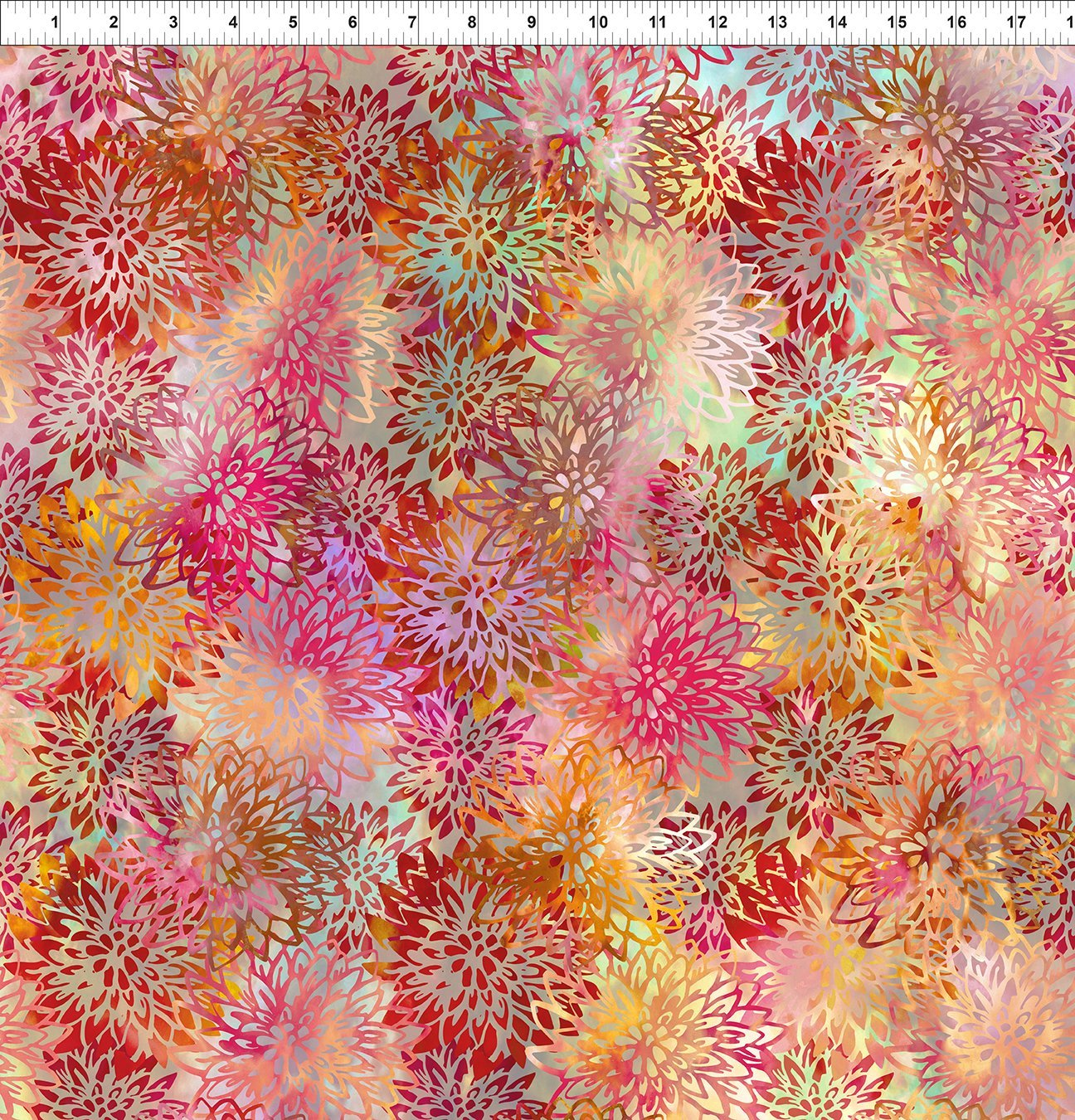 5HVN-1 Haven - Chrysanthemums - Multi by Jason Yenter for In The Beginning Fabric