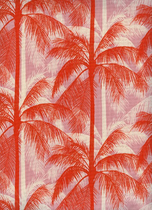 6014-1 Poolside by Cotton + Steel - Palms - Pink