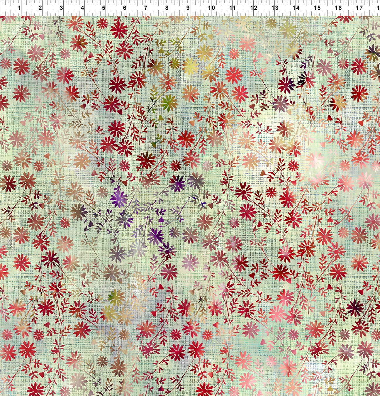 6HVN-1 Haven - Wildflower - Multi by Jason Yenter for In The Beginning Fabric