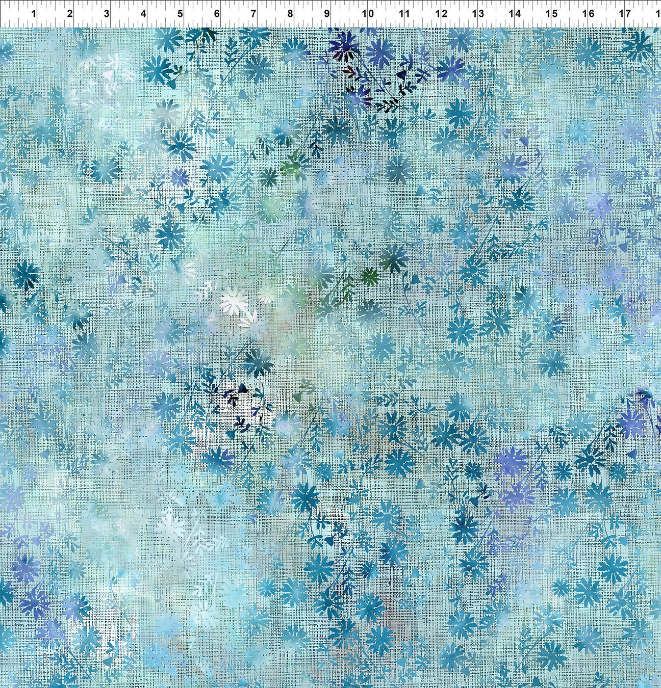 6HVN-2 Haven - Wildflower - Blue by Jason Yenter for In The Beginning Fabric