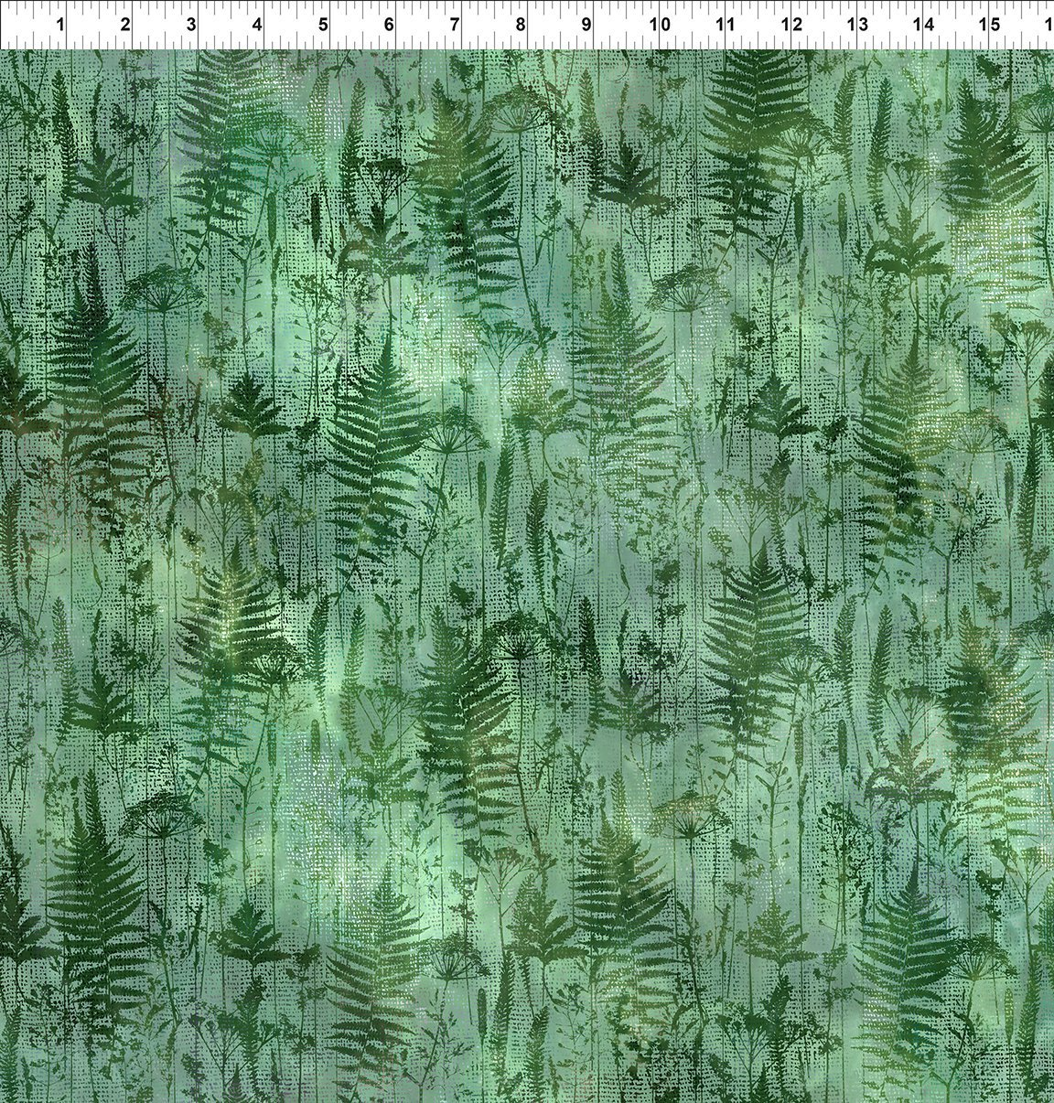 7HVN-1 Haven - Ferns - Green by Jason Yenter for In The Beginning Fabric