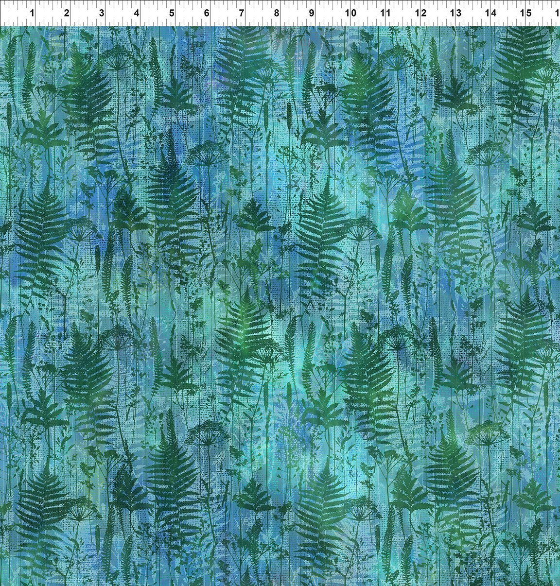 7HVN-3 Haven - Ferns - Purple by Jason Yenter for In The Beginning Fabric