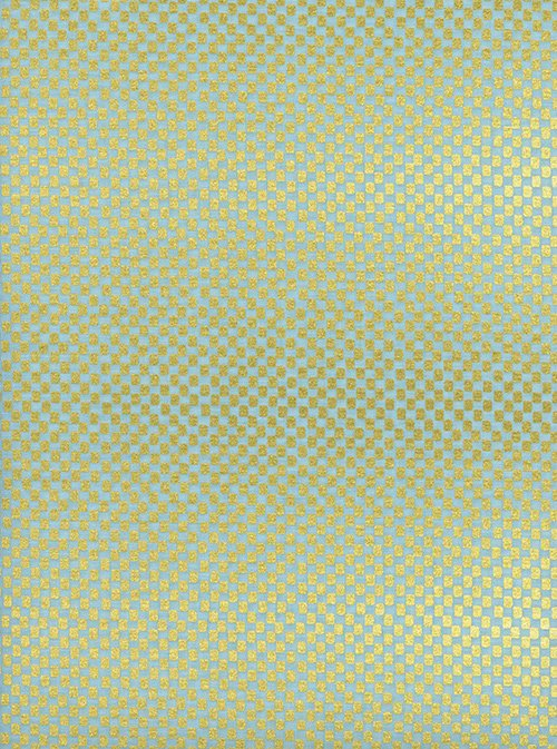 38049-03 Amalfi by Rifle Paper Company for C+S - Checkers - Mint - Metallic