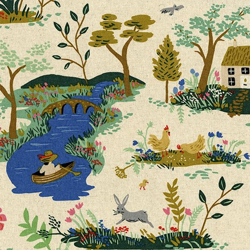 38056-32 English Garden by RPC for Cotton and Steel CANVAS