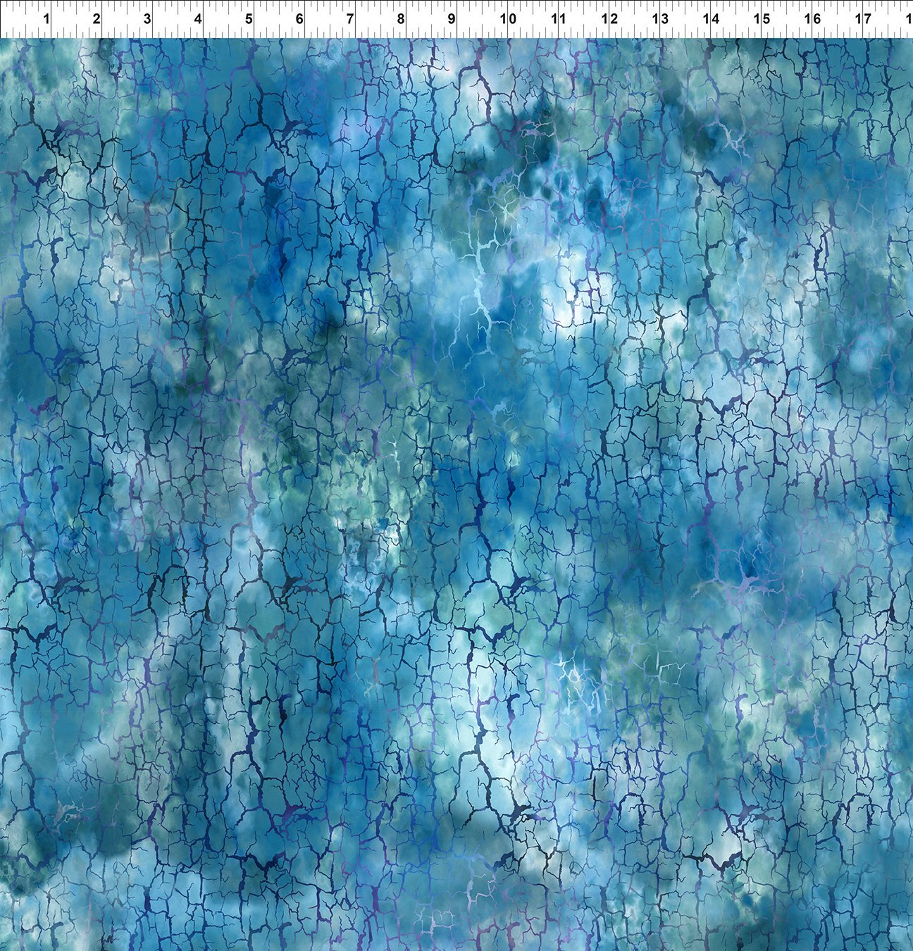 9HVN-2 Haven - Crackle - Blue by Jason Yenter for In The Beginning Fabric