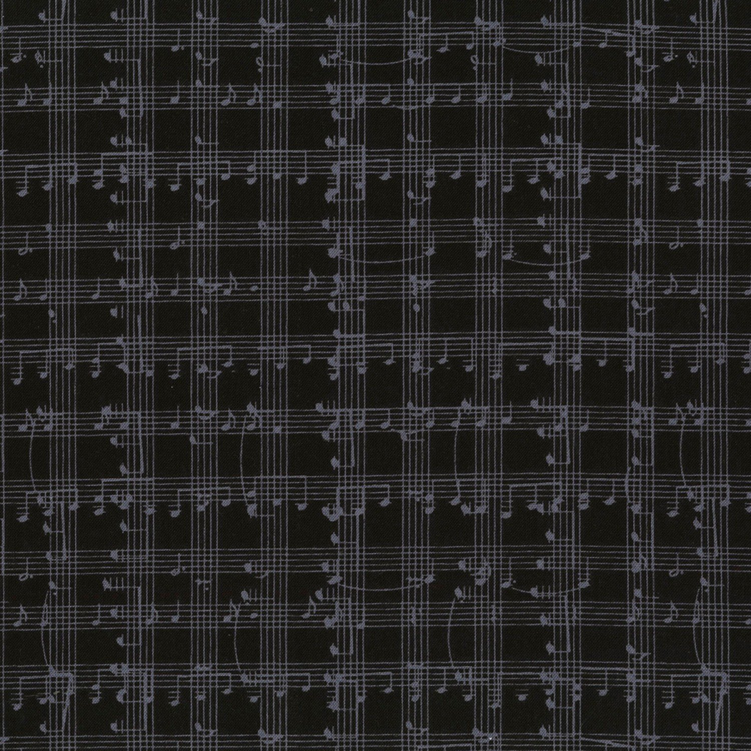 C5935-BLK Black Music Notes