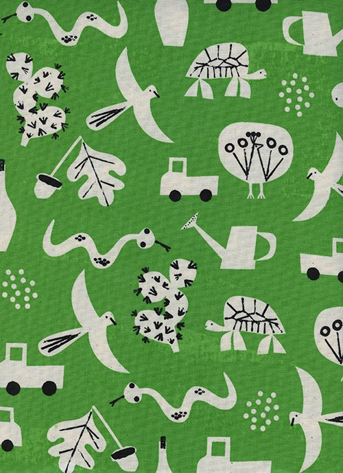 9004-01 Spectacle - Flourish - Green by Christian Robinson for Cotton and Steel