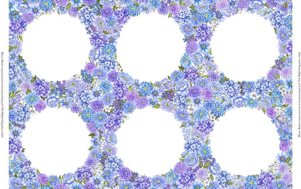 2SEW1 - Karen's Garden - Frames - Peri by Jason Yenter for In The Beginning Fabrics