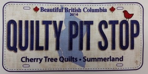 2016 Row by Row Fabric Licence Plate - Quilty Pit Stop