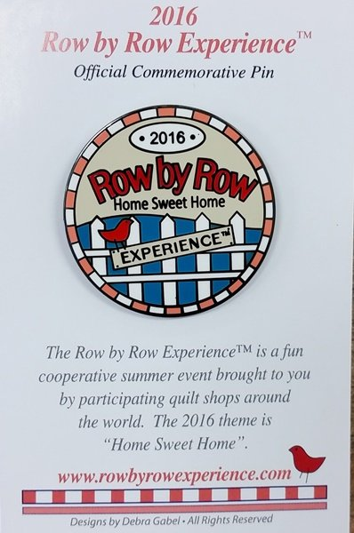 2016 Row by Row Pin - Logo
