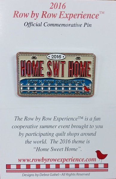2016 Row by Row Pin - Rectangle Logo Pin