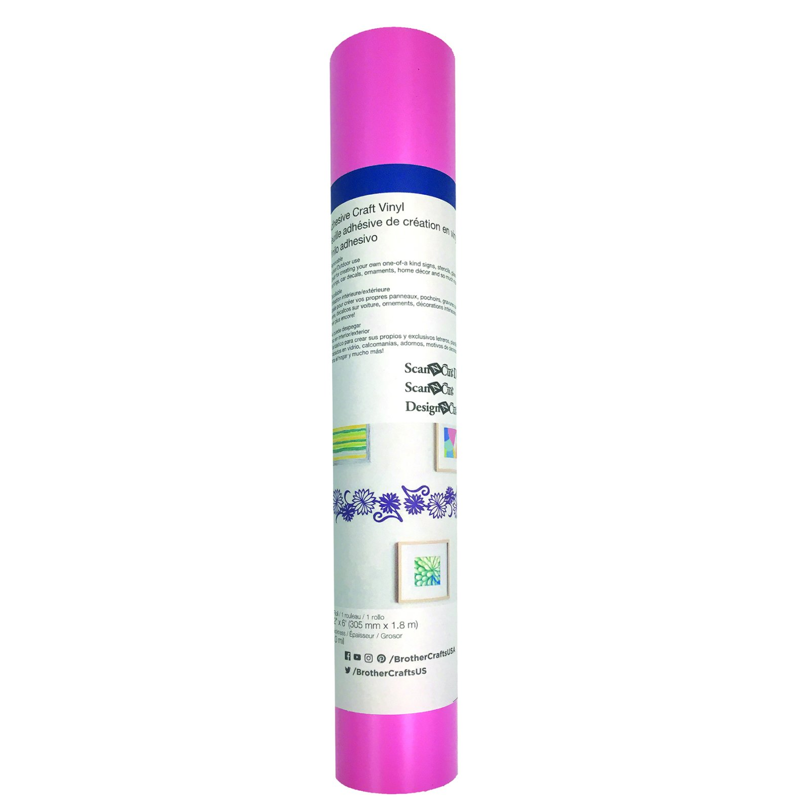 Brother CAVINYLPNKLT Light Pink Adhesive Craft Vinyl
