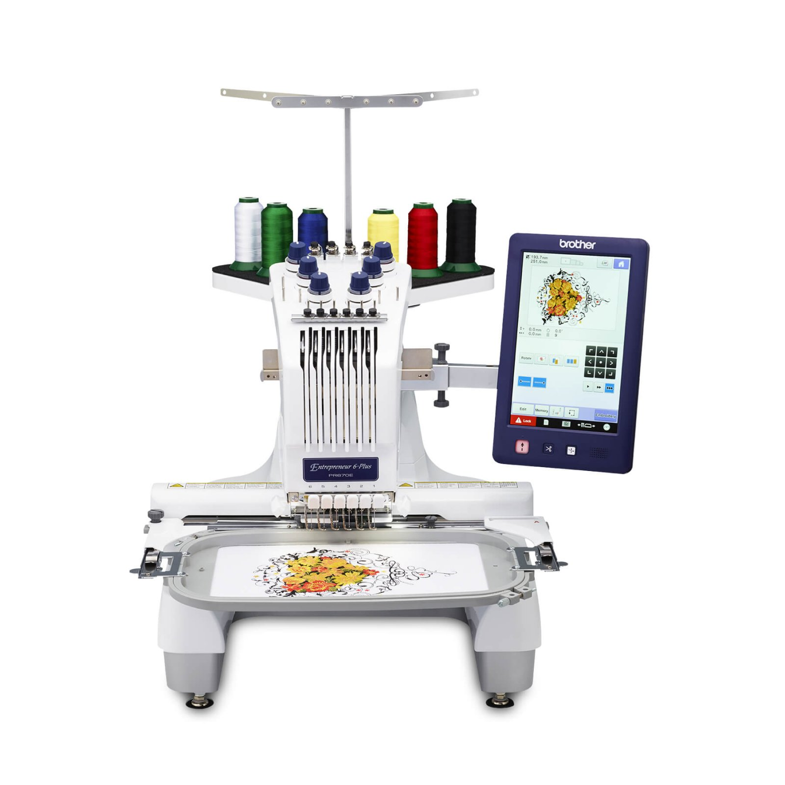 Brother PR670EC Entrepreneur 6 Plus Needle Embroidery - Included Cap Frame