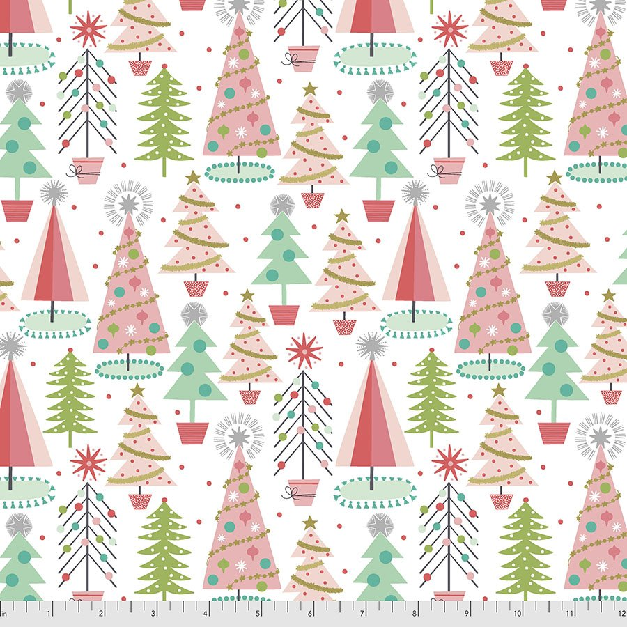 PWMA012.WHITE Christmas Spruces - White