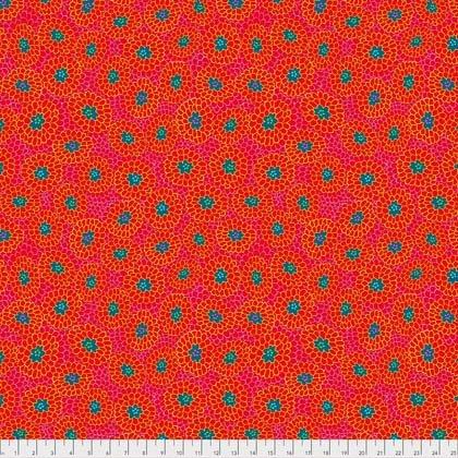 PWOB003.RASPB Broderie Boheme - Grandmas Curtains - Raspberry