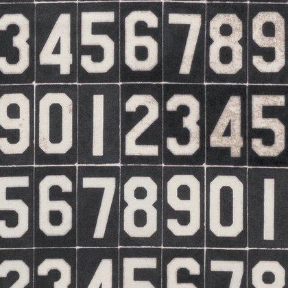 PWTH063.8BLAC Dapper Numbers Black