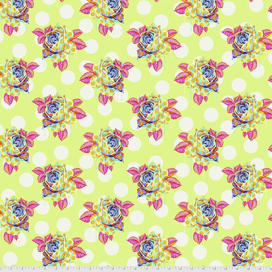 PWTP161.SUGAR Painted Roses - Curiouser and Curiouser by Tula Pink for Free Spirit
