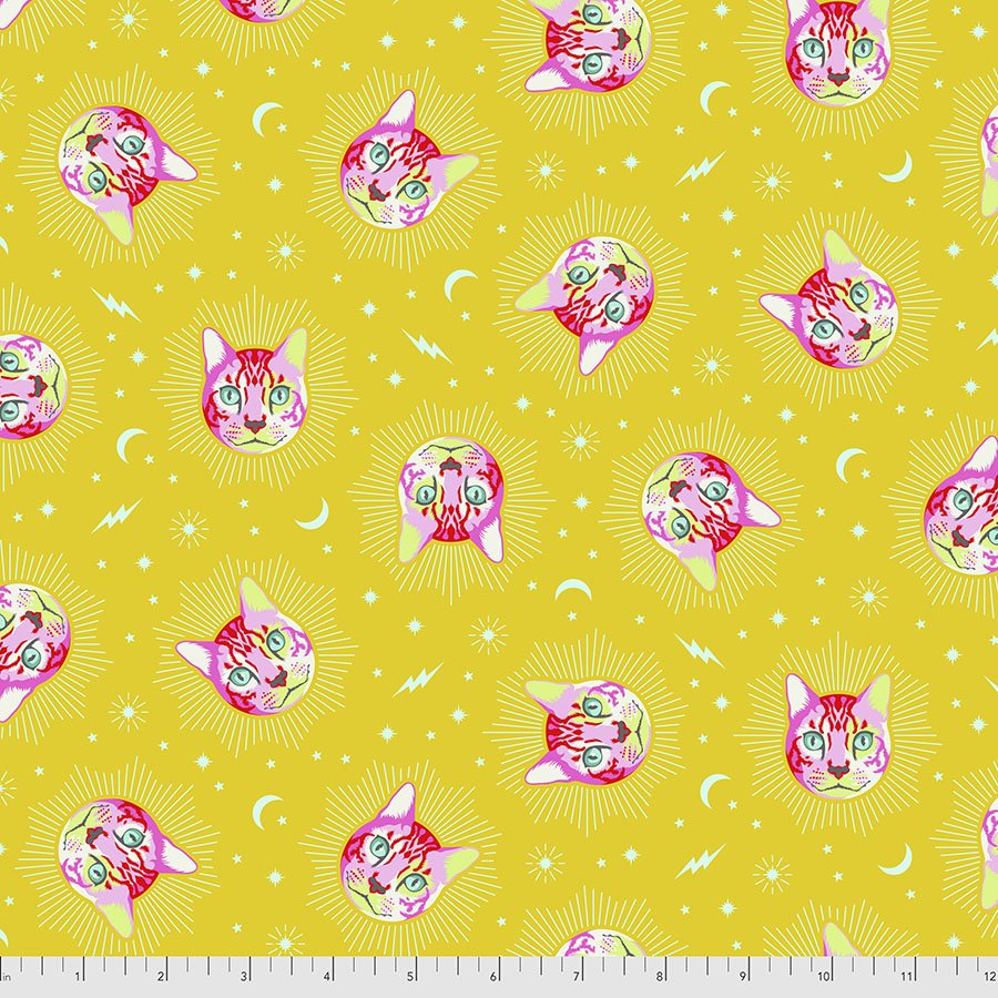 PWTP164.WONDER- Cheshire - Curiouser and Curiouser by Tula Pink for Free Spirit