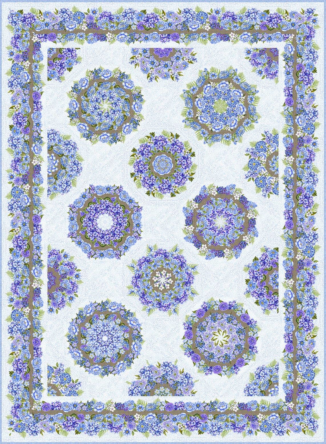Karen's Garden Kaleidoscope Pattern by Jason Yenter for In The Beginning Fabrics