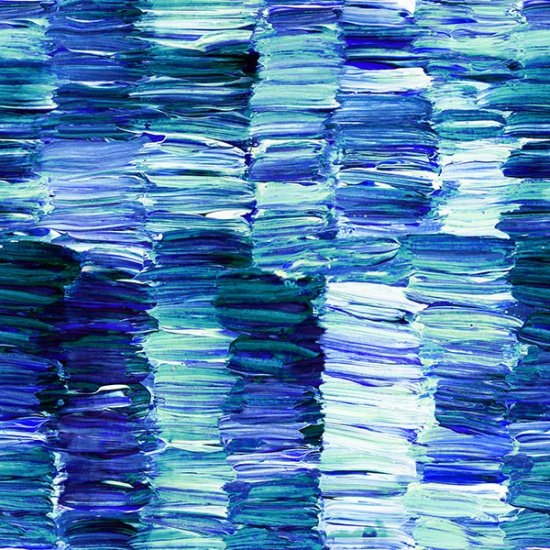 R4626-17 Cobalt - Paint Impressions Digital Print by Hoffman